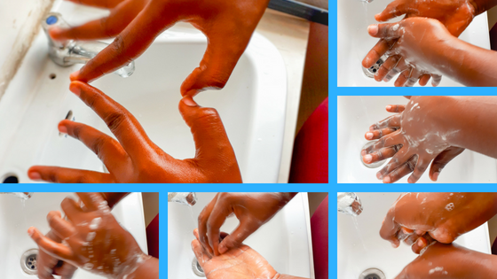 Steps in Hand Washing